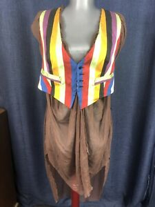 Jean Paul Gaultier RARE COLLECTORS ITEM colorful silk vest many ways to wear 40
