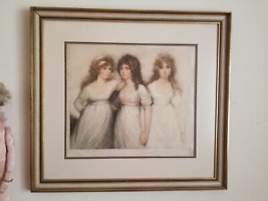 CHARMING SISTERS of The Rushout Family Hand Signed Edition Litho EUGENE TILY