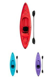 Lifetime Charger Sit-In Kayak PADDLE INCLUDED Red Blue Purple Stable Comfortable