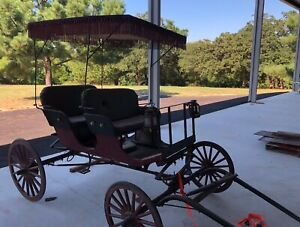 Antique Horse Drawn Carriage Wagon Buggy Surrey 2 Seater Good Condition