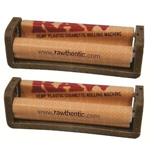 2 Pack Raw AUTHENTIC Joint Cigarette Roller/ Rolling Machine Hemp Plastic 79mm