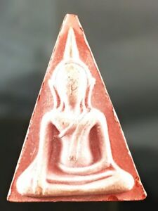 Antique Rare Old Phra Powerful Life Protect Thai Amulet Buddha Protection