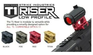 Strike Industries T1 Red Dot Riser Mount Lower 13 & Absolute Co-Witness - NEW