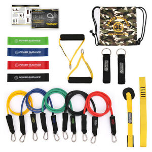 15 in 1 Home Gyms Workout Latex Resistance Band Set Strength Workout Handle Band
