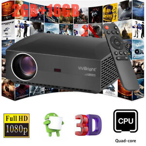 VIVIBRIGHT F30UP LCD Projector 4200LM 1080P Home Theater Android + Bluetooth 4.0