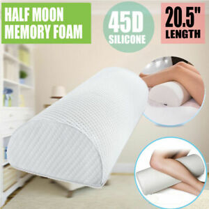 New Knee Half-Moon Leg Pillow & Cover - Orthopedic Support Cushion for Knee Pain