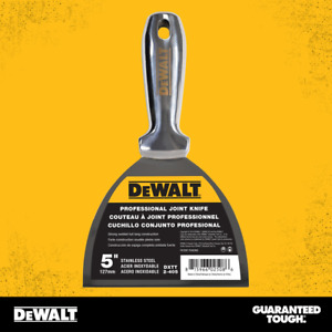 DEWALT Joint Knife Putty Paint Scraper One-Piece Stainless Lifetime Guarantee