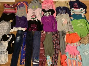 Girls Huge 36pc Clothing Lot Sz 10-12 Justice Hollister Gap Under Armour +