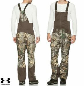 Under Armour Stealth Camo Fleece Hunting Bibs-Size L