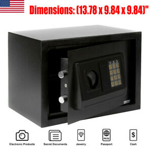 Fire Safe Electronic Lock Box Security Steel Fireproof Home Office Sentry Black