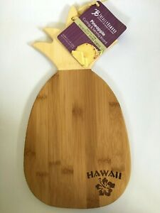 Totally Bamboo HAWAII Pineapple Cutting & Serving Board Tray
