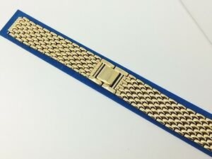 SEIKO 14MM REPLACEMENT MENS 8522 14 YELLOW STAINLESS UNIVERSAL WATCH BAND $35.00