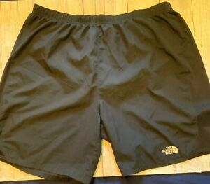The North Face Mens XL Black Running Athletic Shorts Built In Lining