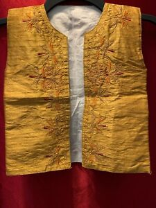 VINTAGE HAND EMBROIDERED Ethnic Youth Vest.