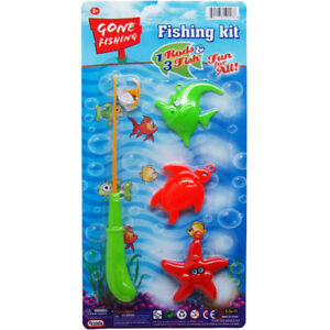 3-Piece Assorted Color Fishing Set With 7.5