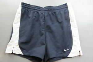 nike women 100% polyester navy blue athletic shorts size S small casual running