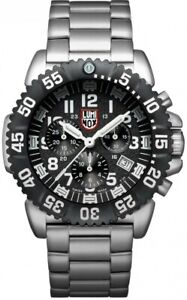 Luminox Navy SEAL Colormark Chrono 3180Series Stainless Steel Mens Watch XS.3182
