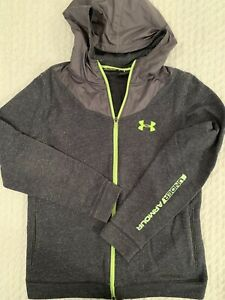 BOYSGIRLS UNDER ARMOUR Full Zip Up Lines Hoodie Size YXL