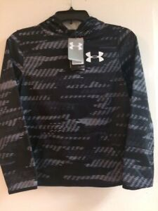 Under Armour Big Boys Printed Hoodie Black white Size Youth M New $21.99