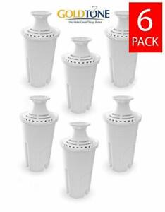 (6) Brita Replacement Charcoal Water Pitcher Filters, Replaces Brita and Mavea