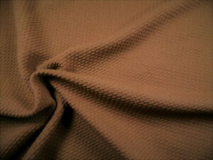 Bullet Textured Liverpool Fabric 4 way Stretch Latte Brown Q32