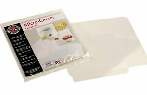 Norpro Clear Micro-Covers Microwave Splatter Guard, 4 Piece Set