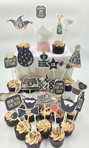 cake and food toppers sticks pick decoration 21st birthday party buffet favors GBP 14.99