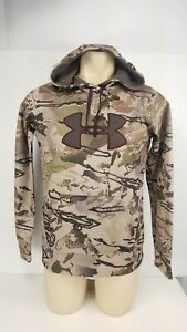 Under Armour Sweat shirt Camouflage Hoodie Fleece Lined Loose Fit Sz Medium M