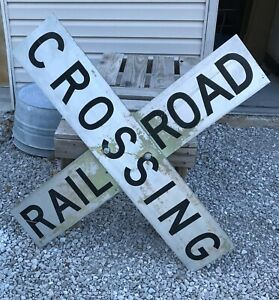 Vintage Railroad Crossing Sign For Sale