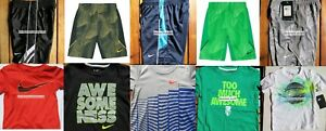 NIKE BOYS SIZE 4T ~ SHORTS ~ T-SHIRTS ~ DRI-FIT ~ $236 NWT ~ 10pc ~ NEW SUMMER