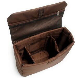 Partition Padded Camera Bags SLR DSLR TLR Insert Protection Case Coffee Color