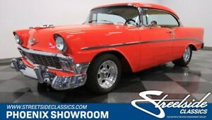 1956 Chevrolet Bel Air/150/210 Restomod Frame Off Restored Bel Air BelAir Classic Vintage Collector Red Resto-Mod V8 Aut