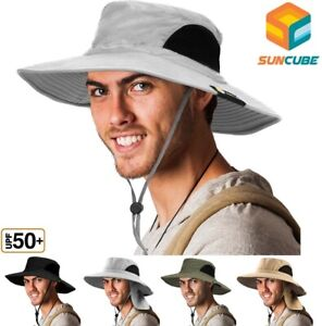 Bonnie Hat for Men Wide Brim Sun Protection Outdoor Hiking Fishing 50UPF Bucket