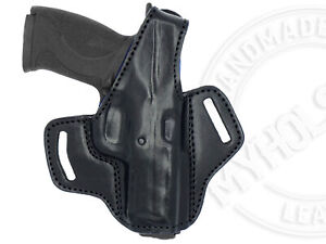 OWB Thumb Break Right Hand Leather Belt Holster Fits Smith amp; Wesson Mamp;P .45 $36.29