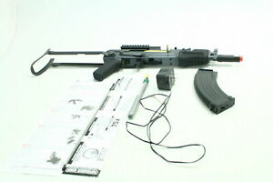 Game Face GF76 Carbine Airsoft Rifle w Mounting Rails & Adjustable Hopper Black