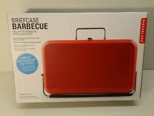 Kikkerland Briefcase Barbecue Portable Mini-grill Tailgate New Charcoal