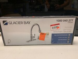 Glacier Bay Pavilion Pull-Down Kitchen Faucet.-Chrome 1000 045 277 INCOMPLETE
