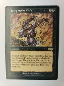 1x Yawgmoth's Will Light Play German Urza's Saga MTG Magic slight corner crease