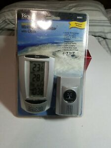 Brand New BIOS Wireless Thermometer w Clock Weather Indoor Outdoor bw901 C5