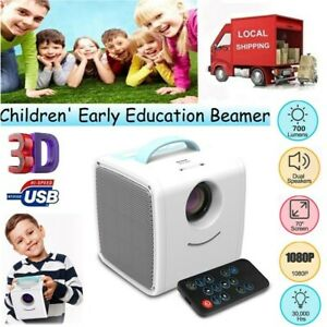 Full HD 1080P Mini Projector LED Multimedia Home Theater LCD Kids Video M8B0