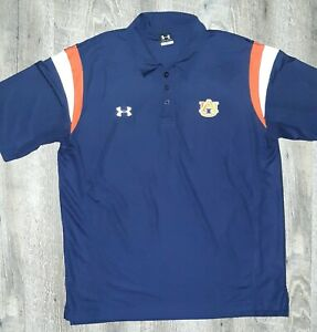 UNDER ARMOUR Polo Shirt Navy Blue Athletic Golf Tennis MENS Large