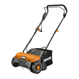 WORX WG850 12 Amp 14quot; Electric Dethatcher with collection bag