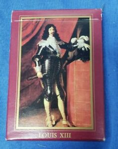 Les Grands Rois de France Aristocrat French Playing Cards Louis XIII Used Good