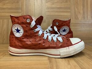RARE🔥 Converse Chuck Taylor All Star OSTRICH Leather Hi Sneakers Sz 7 Men's