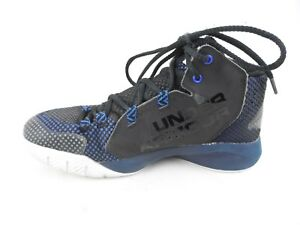 Under Armour Charged Black Blue Basketball Shoes Womens Size 6.5 Euro 37.5 EUC