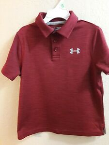 Boy's Under Armour Heat Gear Polo Shirt Youth Size XS (7)