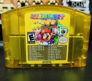 Nintendo 64 N64 18 in 1 Game Card Mario Party 1 2 3 + 15 Classic NES US Edition