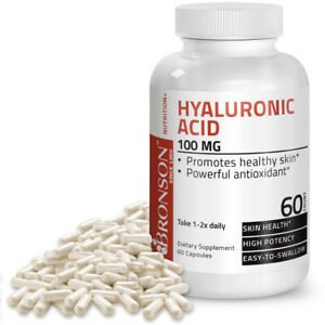Bronson Hyaluronic Acid Joint Support 100 mg, 60 Capsules