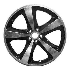Reconditioned OEM 20X8 Alloy Wheel Polished and Deep Black 560-02461