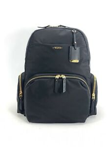 Tumi Calais Backpack Lightweight Black with Gold Hardware Casual Fits 15